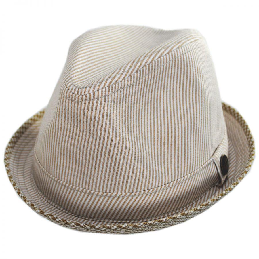 Children BLACK PINSTRIPE FEDORA HAT~*~FASHION DRESS UP HAT Small size 54 cm.