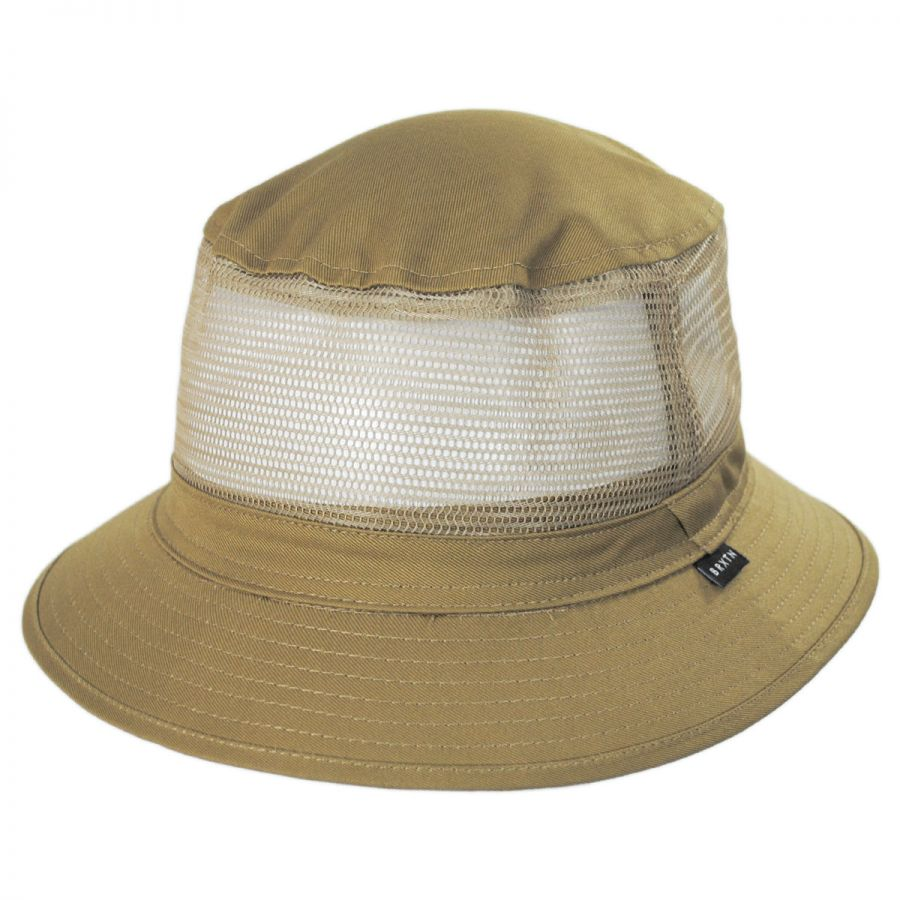 ea763df09ecf8c top quality brixton ration bucket hat dark olive boarders a7bc2 27520; new  zealand hardy cotton and mesh bucket hat alternate view 1 c55ed 2ff4b