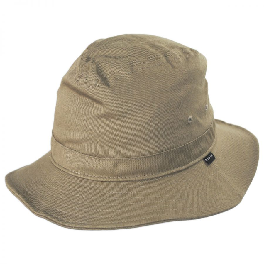 13be57b61a416 Brixton Hats Ronson Cotton Packable Fedora Hat Crushable