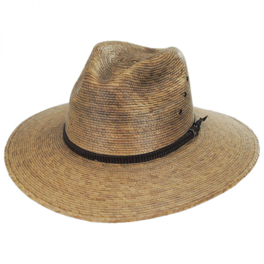 66b3369958b303 Kenny K Palm Leaf Straw Aussie Hat Straw Hats