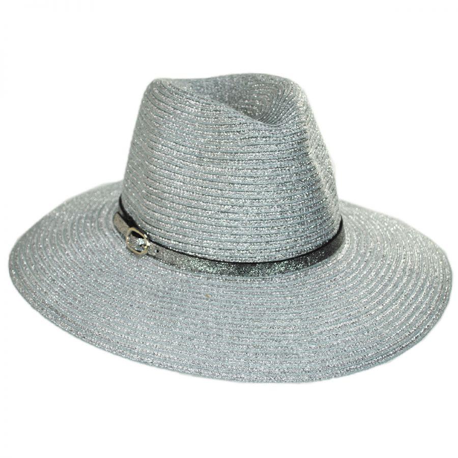 3728d85c1051 Something Special Forge Metallic Straw Fedora Hat Fedoras