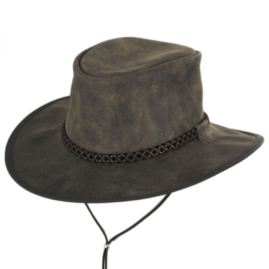 f1b2fc894d7 Head  N Home Crusher Leather Outback Western Hat Western Hats