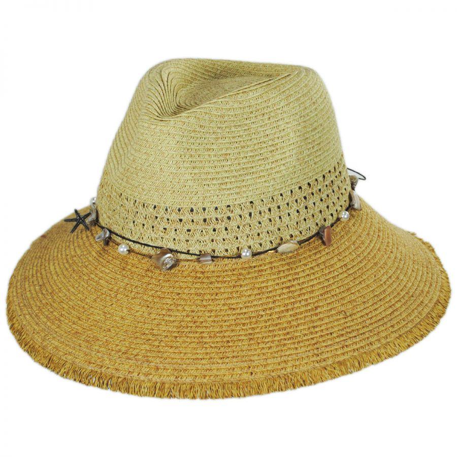 00d42152d Playa Toyo Straw Fedora Hat