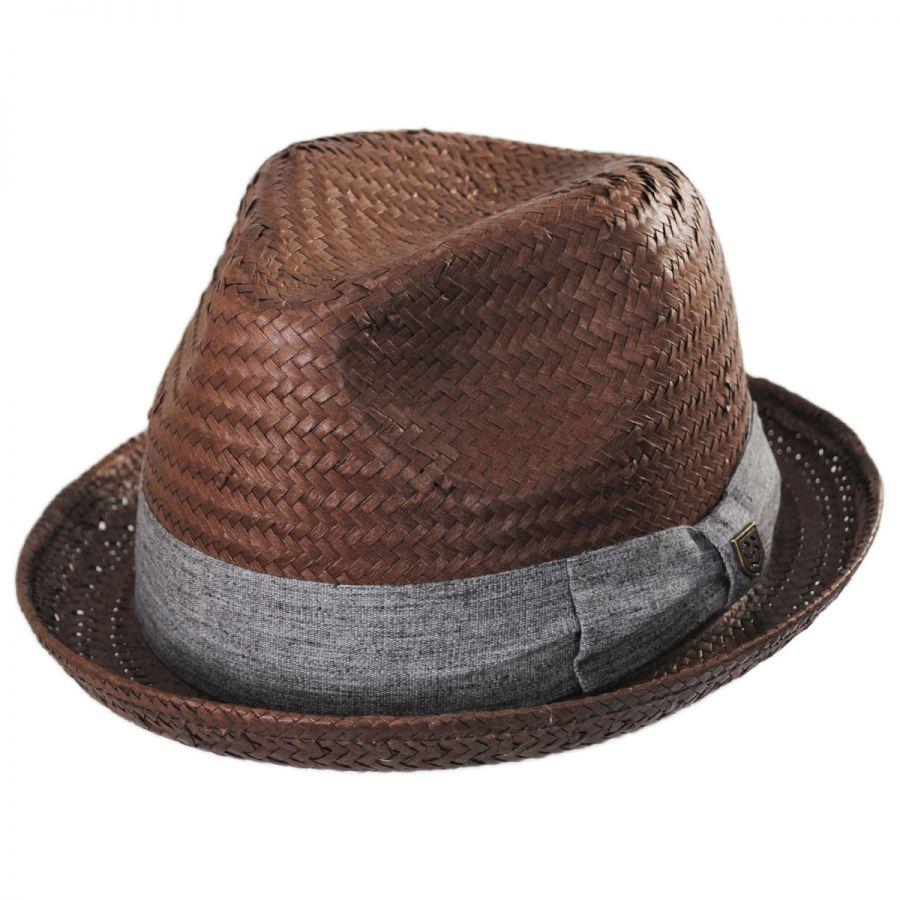 Brixton Hats Castor Toyo Straw Fedora Hat All Fedoras 526988be265e