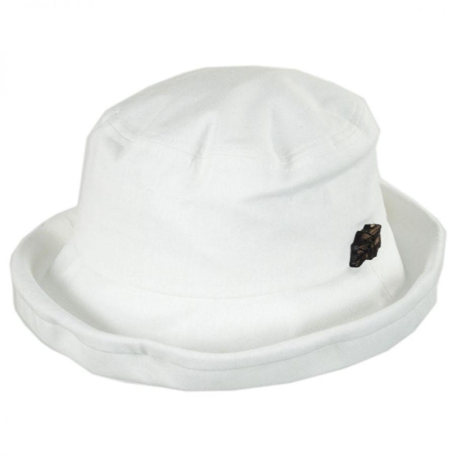 sur la tete Arbres Linen and Cotton Bucket Hat Sun Hats 4c023b3f863
