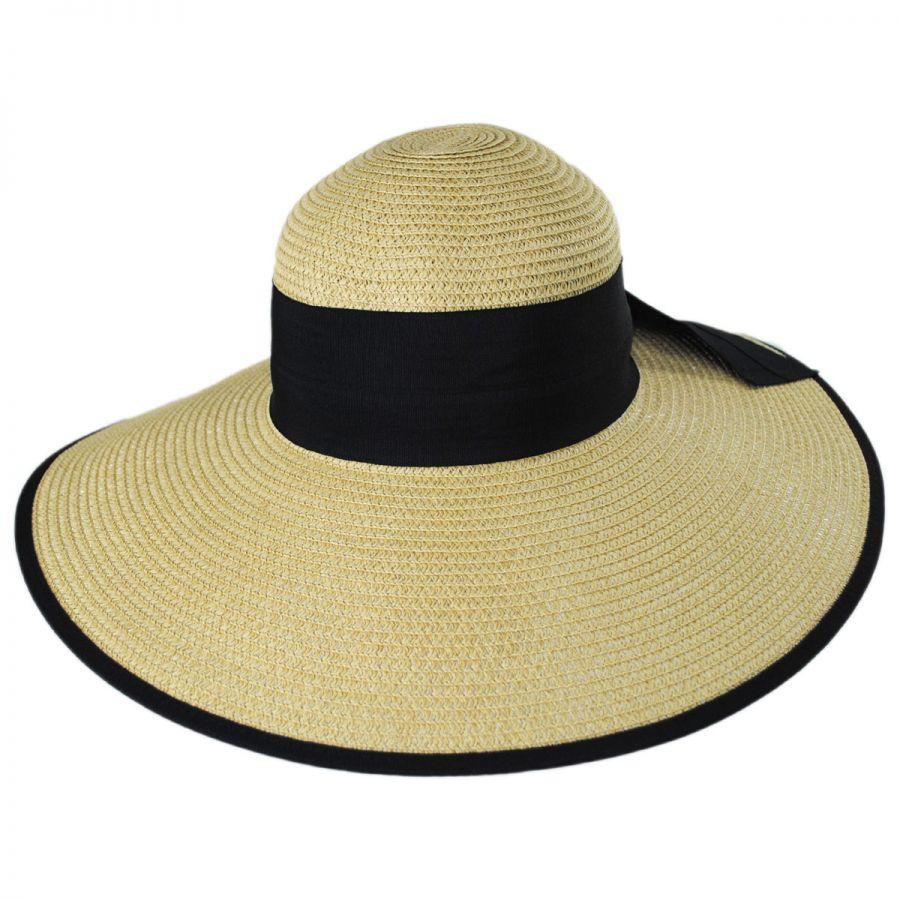 cf69a2618 Black Bow Toyo Straw Sun Hat