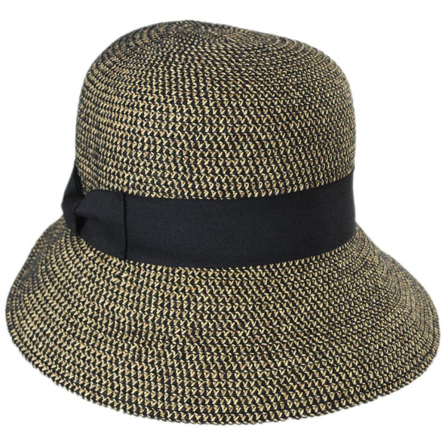 aa1d51842cf15 Jeanne Simmons Tweed Braid Toyo Straw Cloche Hat Cloche   Flapper Hats