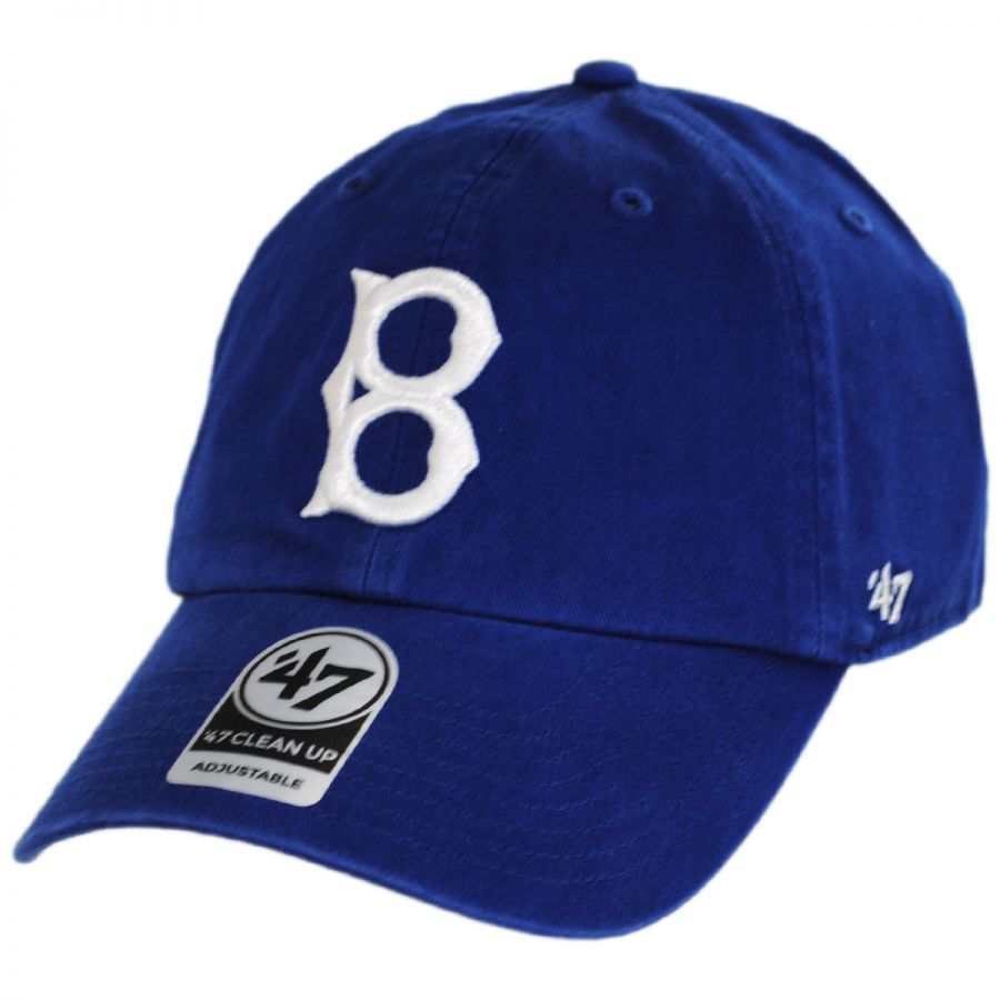 2f2890d7075b2d 47 Brand Brooklyn Dodgers MLB Cooperstown Clean Up Strapback Baseball Cap  Dad Hat