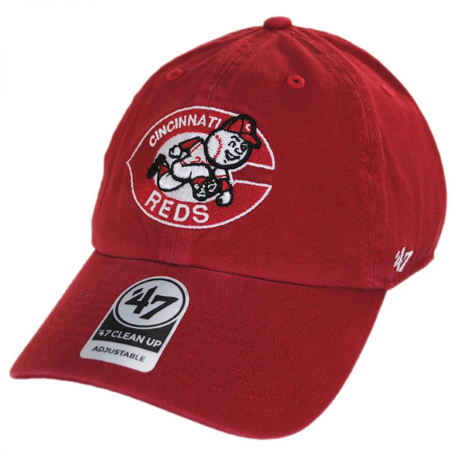 47 Brand Cincinnati Red Mlb Cooperstown Clean Up Strapback