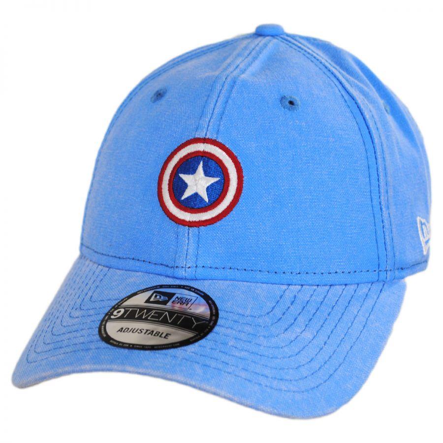377b09aba Marvel Captain America Rugged 9Twenty Strapback Baseball Cap Dad Hat  alternate view 1