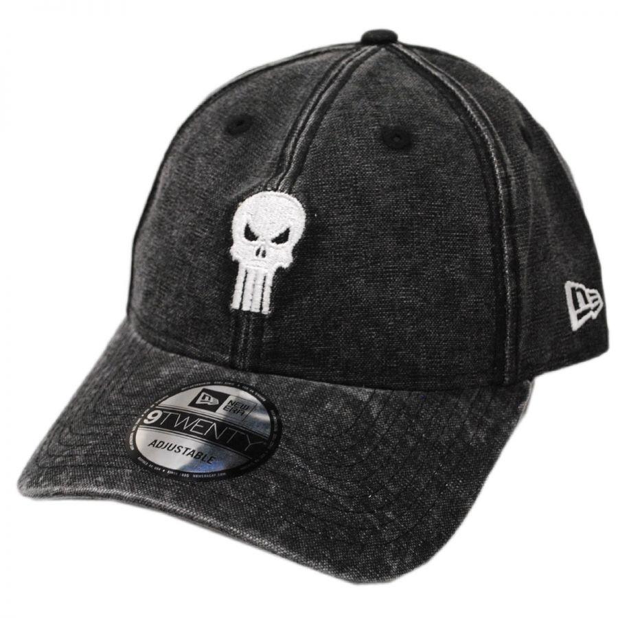 New Era Marvel Punisher Rugged 9Twenty Strapback Baseball Cap Dad ... 1db8b7fd061