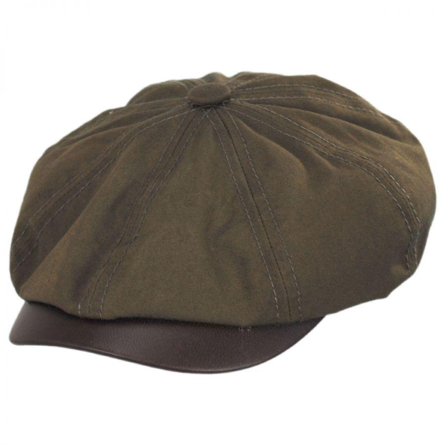 08dbbed5e Hatteras Wax Cotton Blend Newsboy Cap