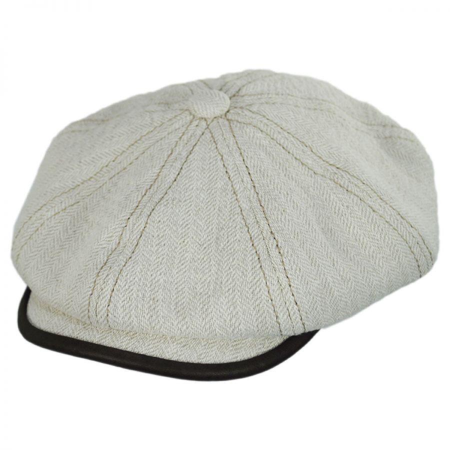 306b263d410 Stetson Lambskin Bill Linen and Cotton Newsboy Cap Newsboy Caps