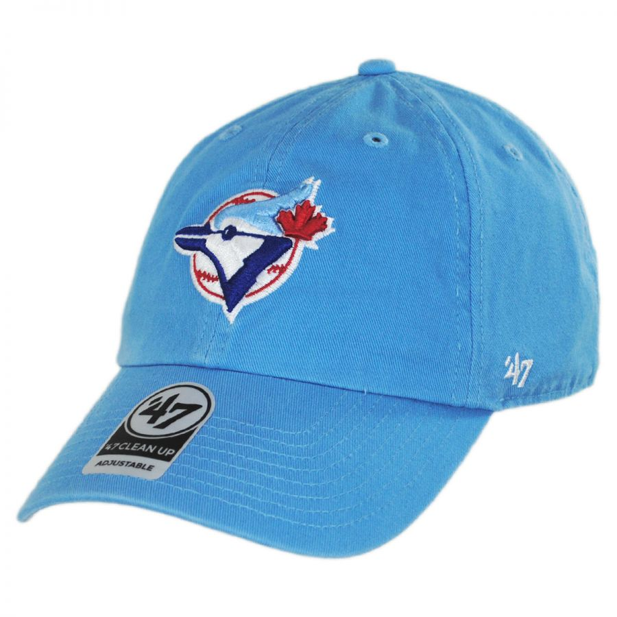 check out 8a316 9abf9 47 Brand Toronto Blue Jays MLB Cooperstown Clean Up Strapback Baseball Cap  Dad Hat