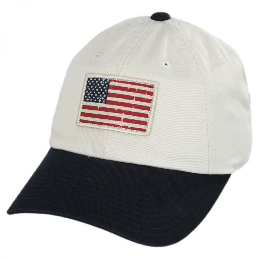 USA Flag Badger Slouch Strapback Baseball Cap Dad Hat alternate view 5 3e74ab51a