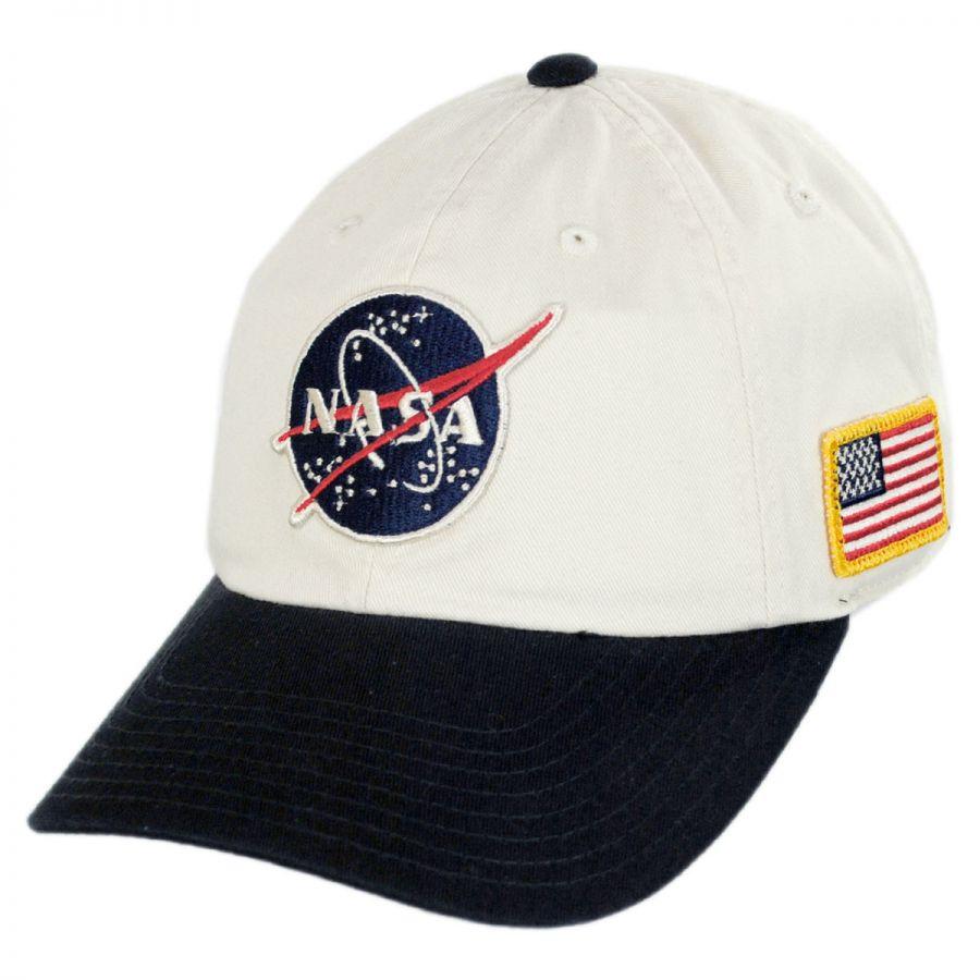 American Needle NASA United Slouch Strapback Baseball Cap Dad Hat ... 7e14128344ac