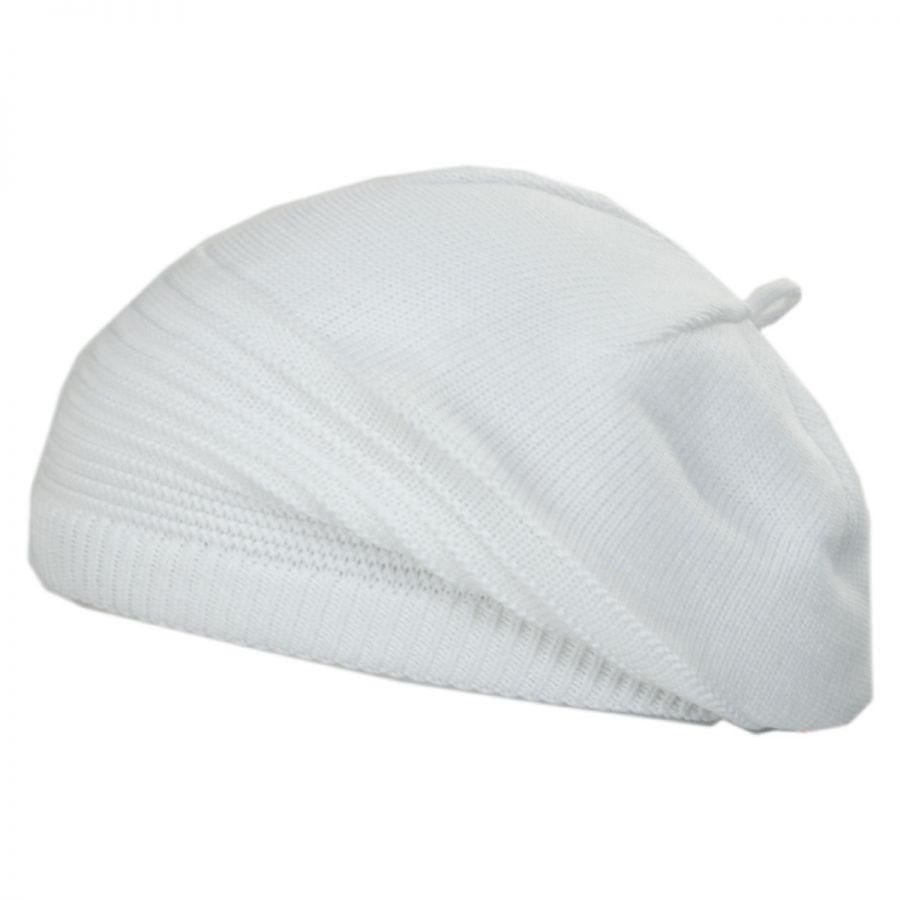Parkhurst Lily Cotton Knit Slouchy Beret Berets 29071ec9699