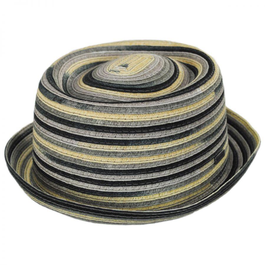 Kangol Spacedyed Toyo Straw Braid Pork Pie Hat Pork Pie Hats f6ebc30a3fe