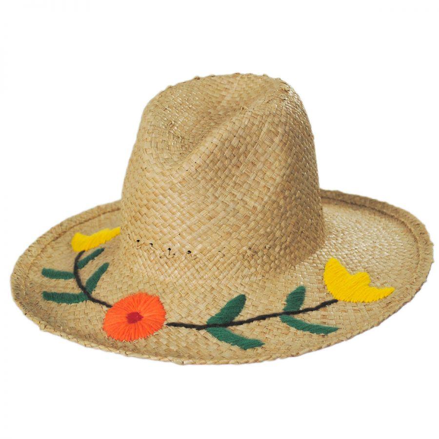 e9b5be215d896 Brixton Hats Jenna II Raffia Straw Western Hat Straw Hats