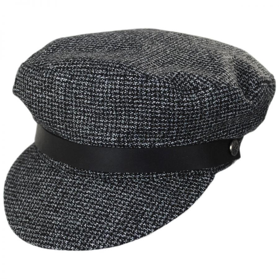 7c7f62a8dc042 Brixton Hats Kurt Tweed Cotton Fiddler Cap Greek Fisherman Caps