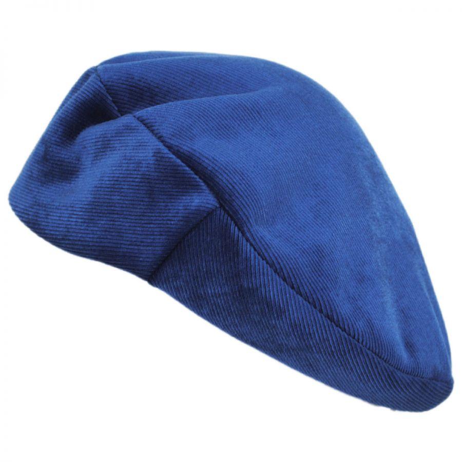 Brixton Hats Audrey Velour Corduroy Beret Berets 2f1cf8742aa