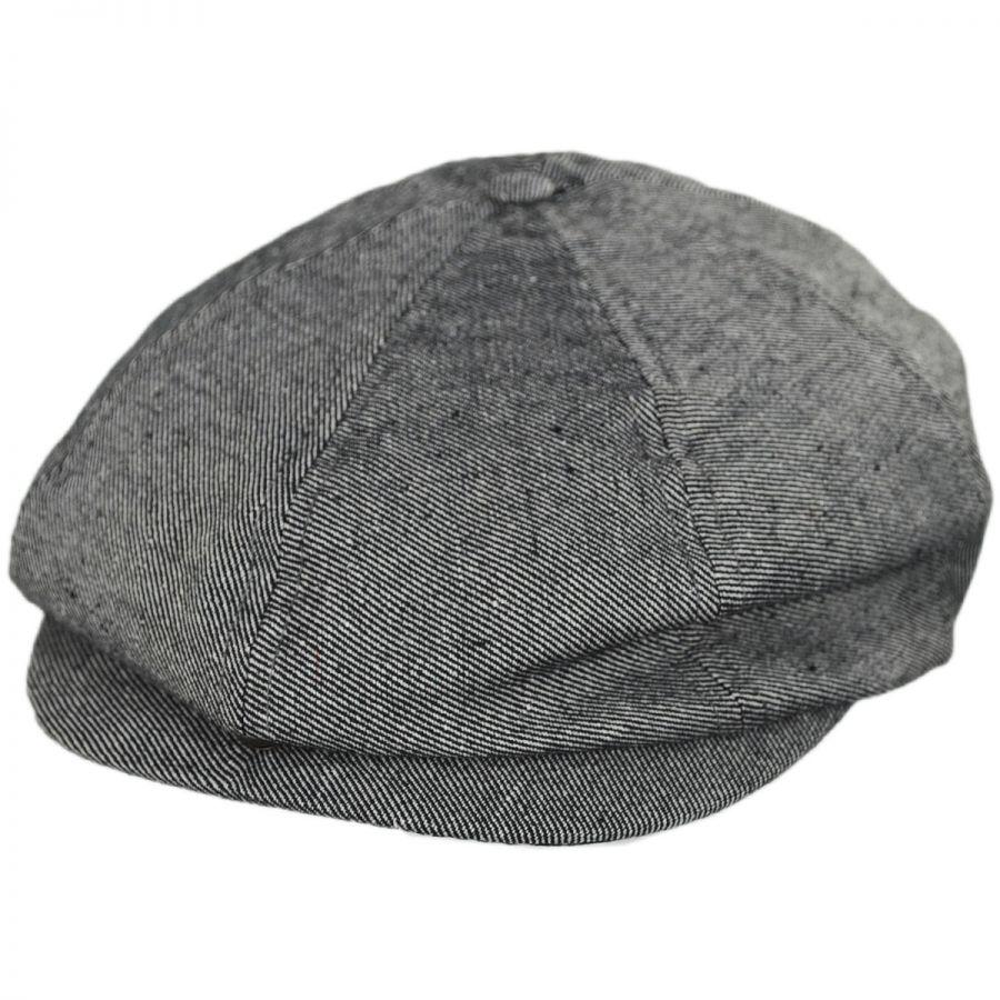 226700d38df96 Brixton Hats Brood Cotton Denim Newsboy Cap Newsboy Caps