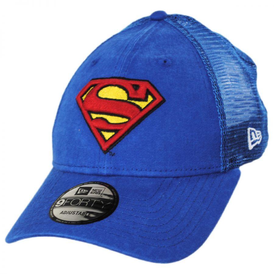 6e7871508d0 DC Comics Superman 9Forty Trucker Snapback Baseball Cap alternate view 1