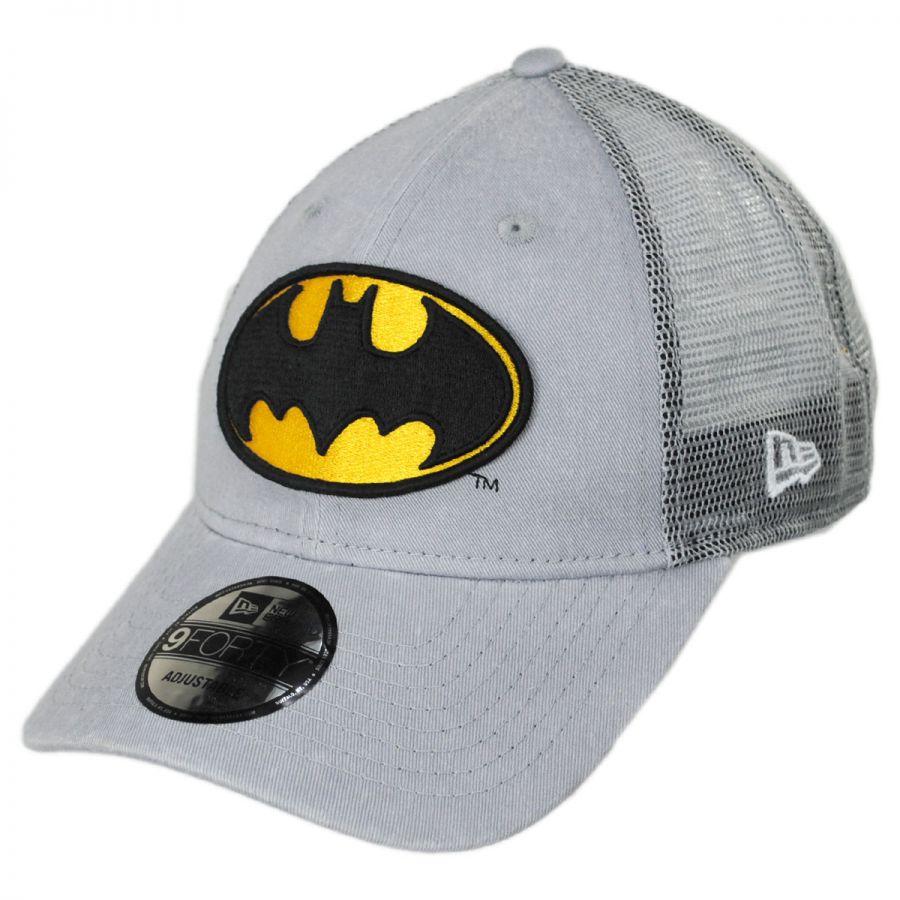 DC Comics Batman 9Forty Trucker Snapback Baseball Cap alternate view 1 3fb233110c0