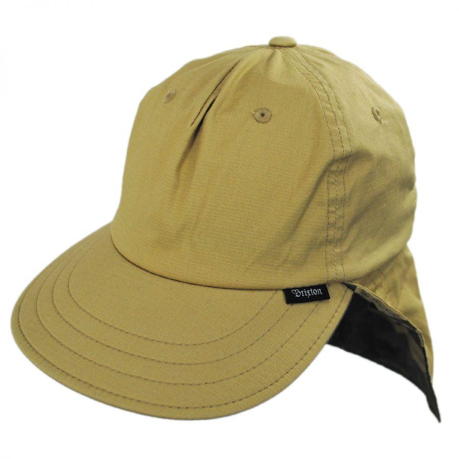 Brixton Hats Kern AT Neck Flap Baseball Cap All Baseball Caps 86195bd9ff9