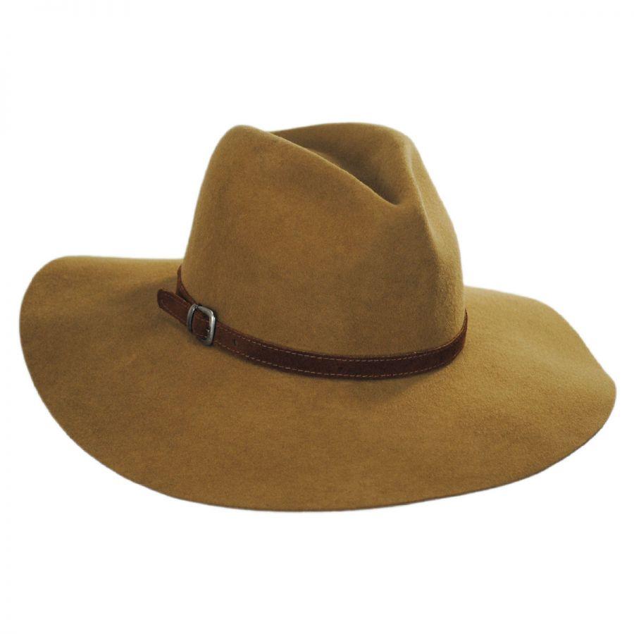 81a4e271 Bigalli Sophie Wool Felt Rancher Fedora Hat Casual Hats