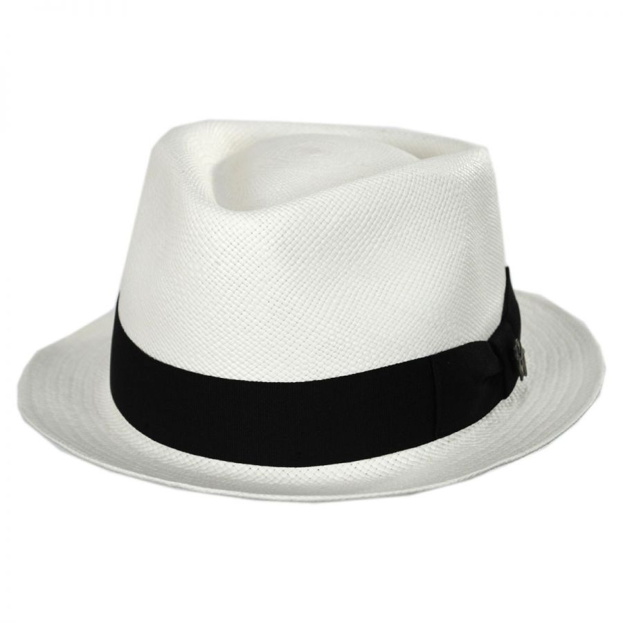 fbf720ef5 Boston Panama Straw Trilby Fedora Hat