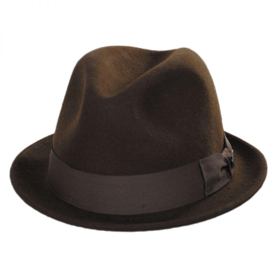 Bigalli Milano Wool Felt Trilby Fedora Hat Stingy Brim   Trilby c087f46a7c40