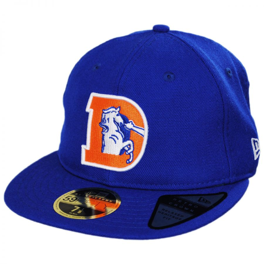 16736ff4 Denver Broncos NFL Retro Fit 59Fifty Fitted Baseball Cap