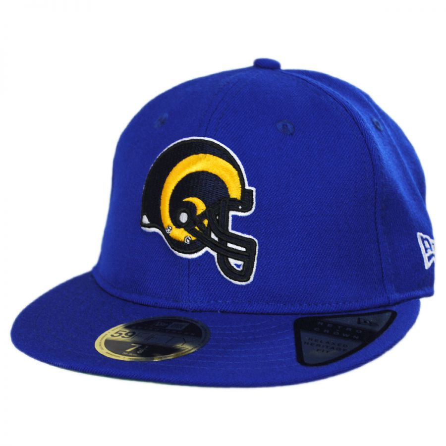 527d506a Los Angeles Rams NFL Retro Fit 59Fifty Fitted Baseball Cap