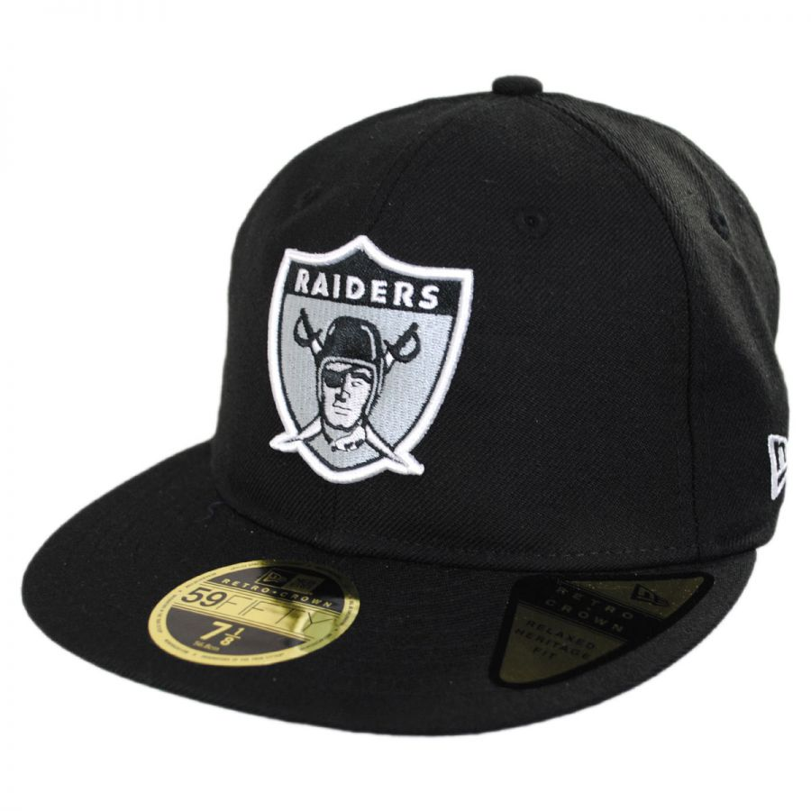 d3c2e836cfe Oakland Raiders NFL Retro Fit 59Fifty Fitted Baseball Cap alternate view 1