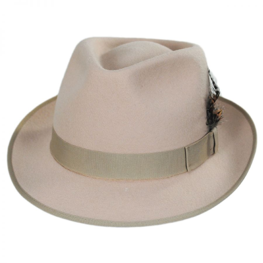 e5f0079cc6a Stacy Adams Tear Drop Wool Felt Fedora Hat All Fedoras