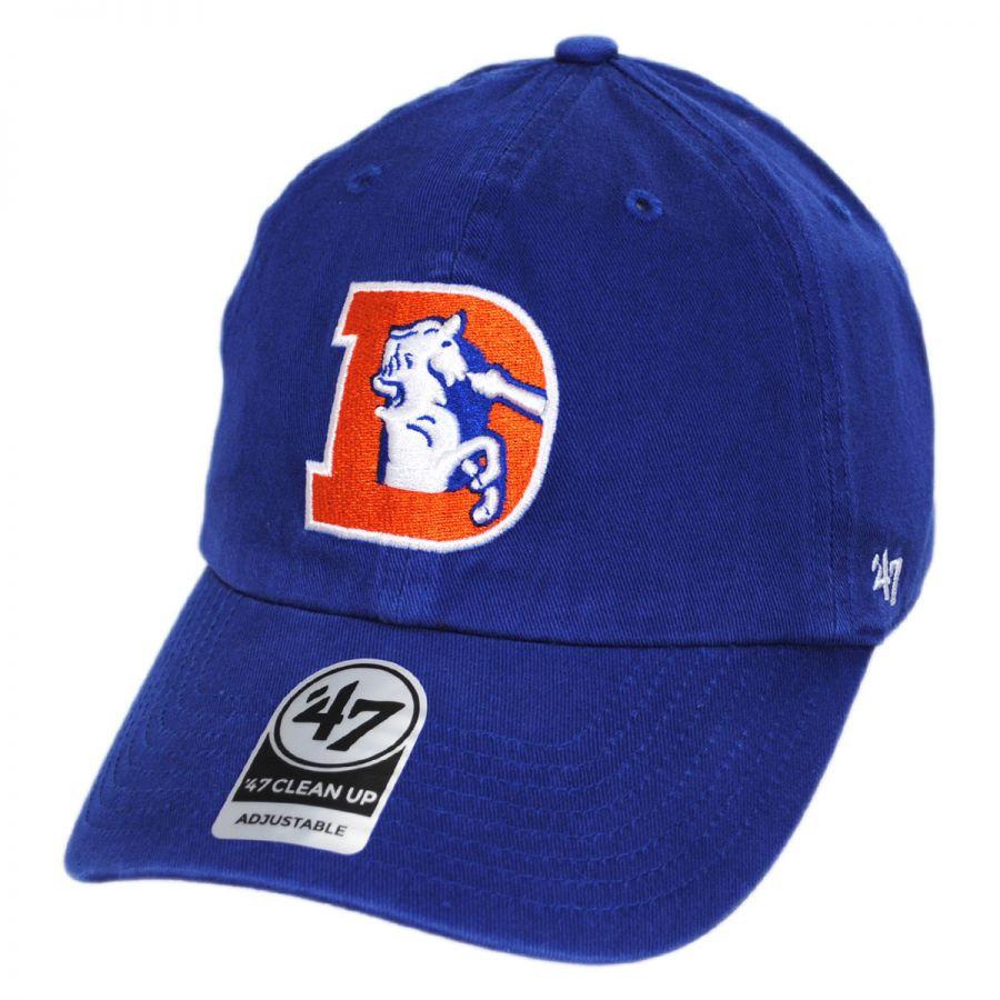 22c41ea91 Denver Broncos NFL Clean Up Legacy Strapback Baseball Cap Dad Hat