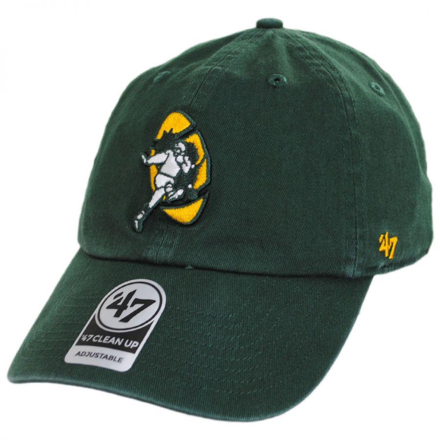 92da6177 47 Brand Green Bay Packers NFL Clean Up Legacy Strapback Baseball ...