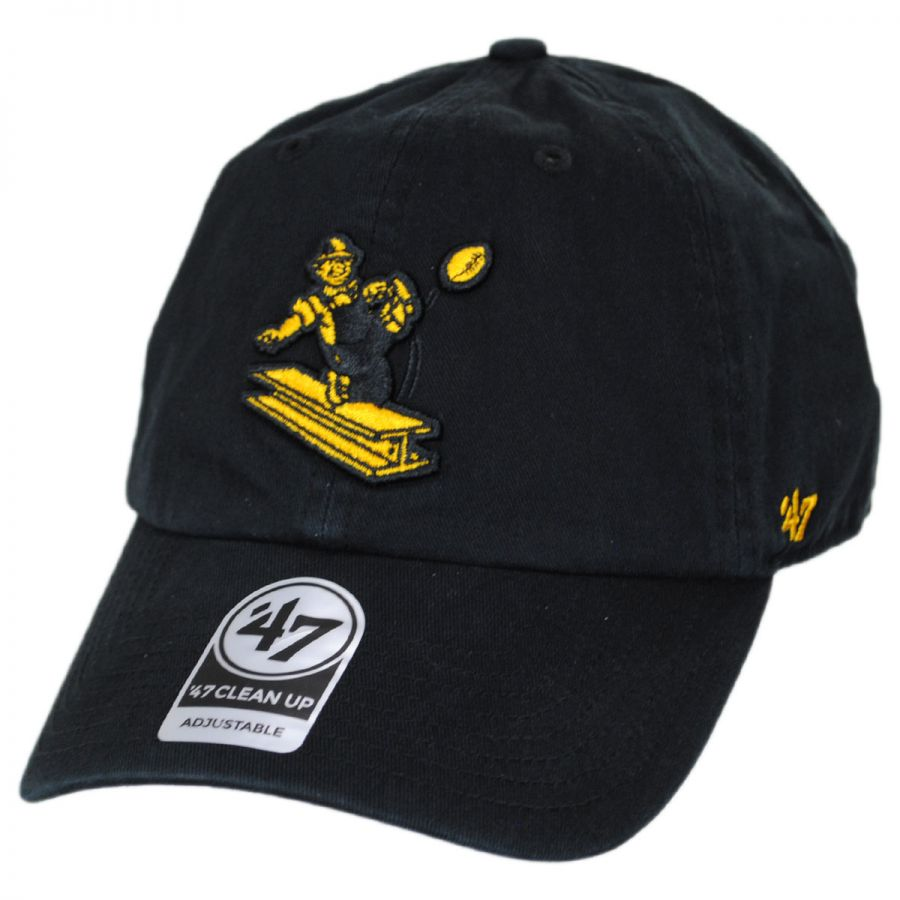 3146a2b36d520 47 Brand Pittsburgh Steelers NFL Clean Up Legacy Strapback Baseball Cap Dad  Hat