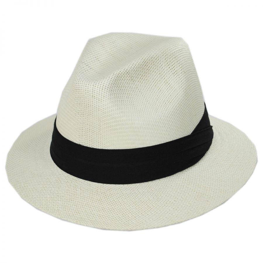 Dorfman Pacific Matte Toyo Fedora Hats & Caps