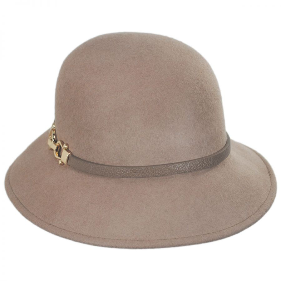 Scala Bridle Buckle Wool Felt Cloche Hat Cloche & Flapper Hats