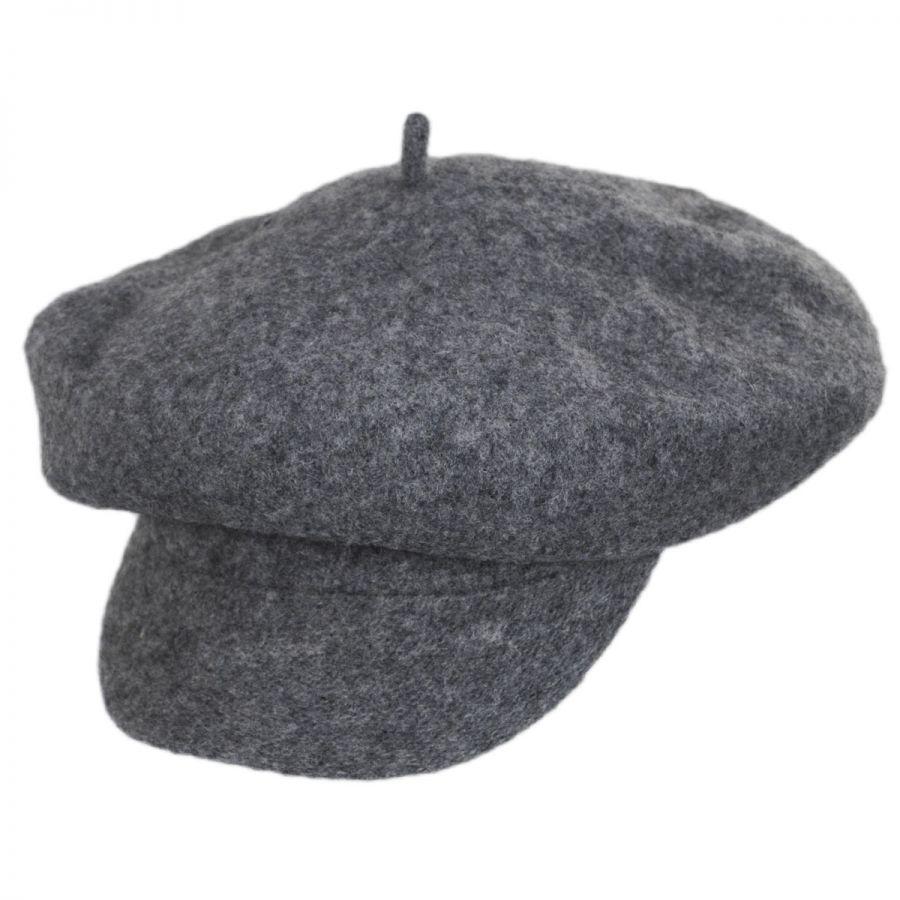 96f52e285 Boiled Wool Newsboy Flat Cap