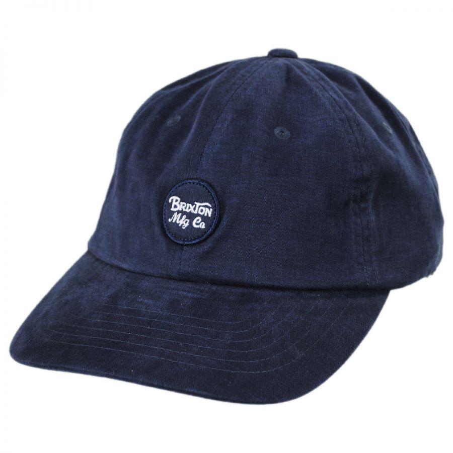 90283438ff2 Brixton Hats Wheeler LoPro Strapback Baseball Cap Dad Hat All ...