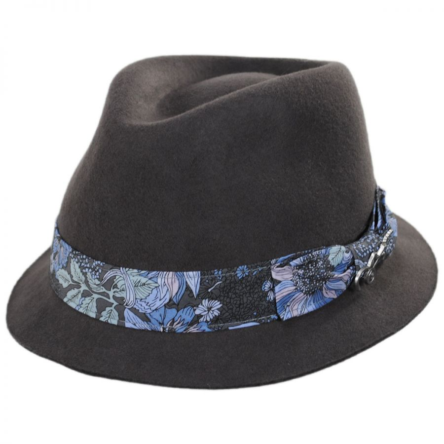 533b8e2d94e Carlos Santana Accord Wool Teardrop Stingy Brim Fedora Hat Crushable