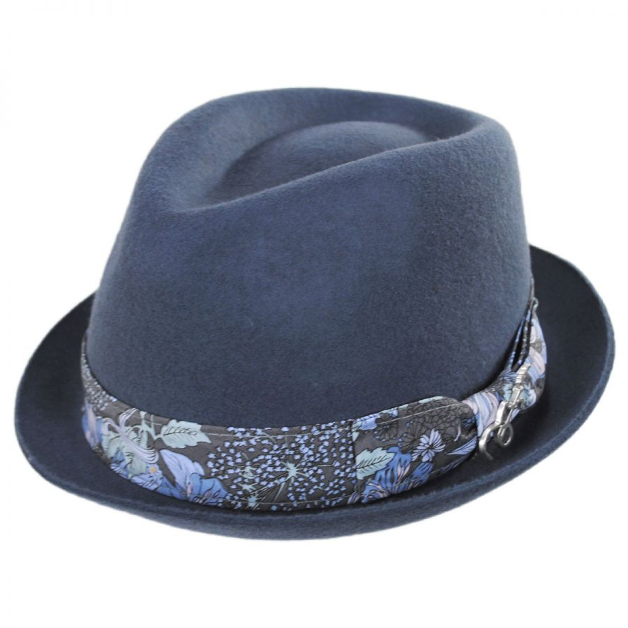 ebb42b1df8b75 Carlos Santana Accord Wool Teardrop Stingy Brim Fedora Hat Crushable