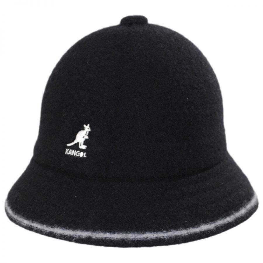 Kangol Striped Casual Wool Bucket Hat Bucket Hats
