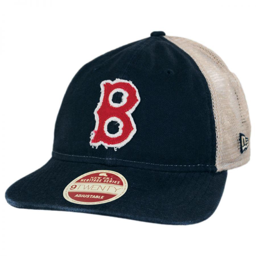 Boston Red Sox 1946-1953 Strapback Trucker Baseball Cap alternate view 1 eb4e60c23fd