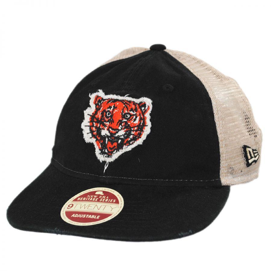Detroit Tigers 1957-1960 Strapback Trucker Baseball Cap alternate view 1 ca2ec0d9ce6
