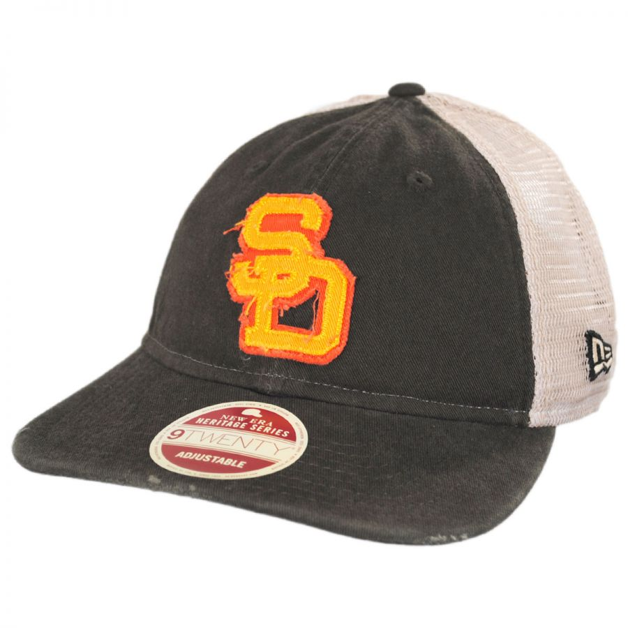 San Diego Padres 1980-1984 Strapback Trucker Baseball Cap alternate view 1 0e039e50445