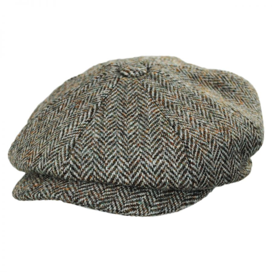 01d603ea9ab Failsworth Carloway Harris Tweed Oatmeal Wool Newsboy Cap Newsboy Caps